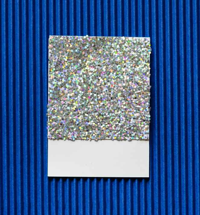 sequined grey board