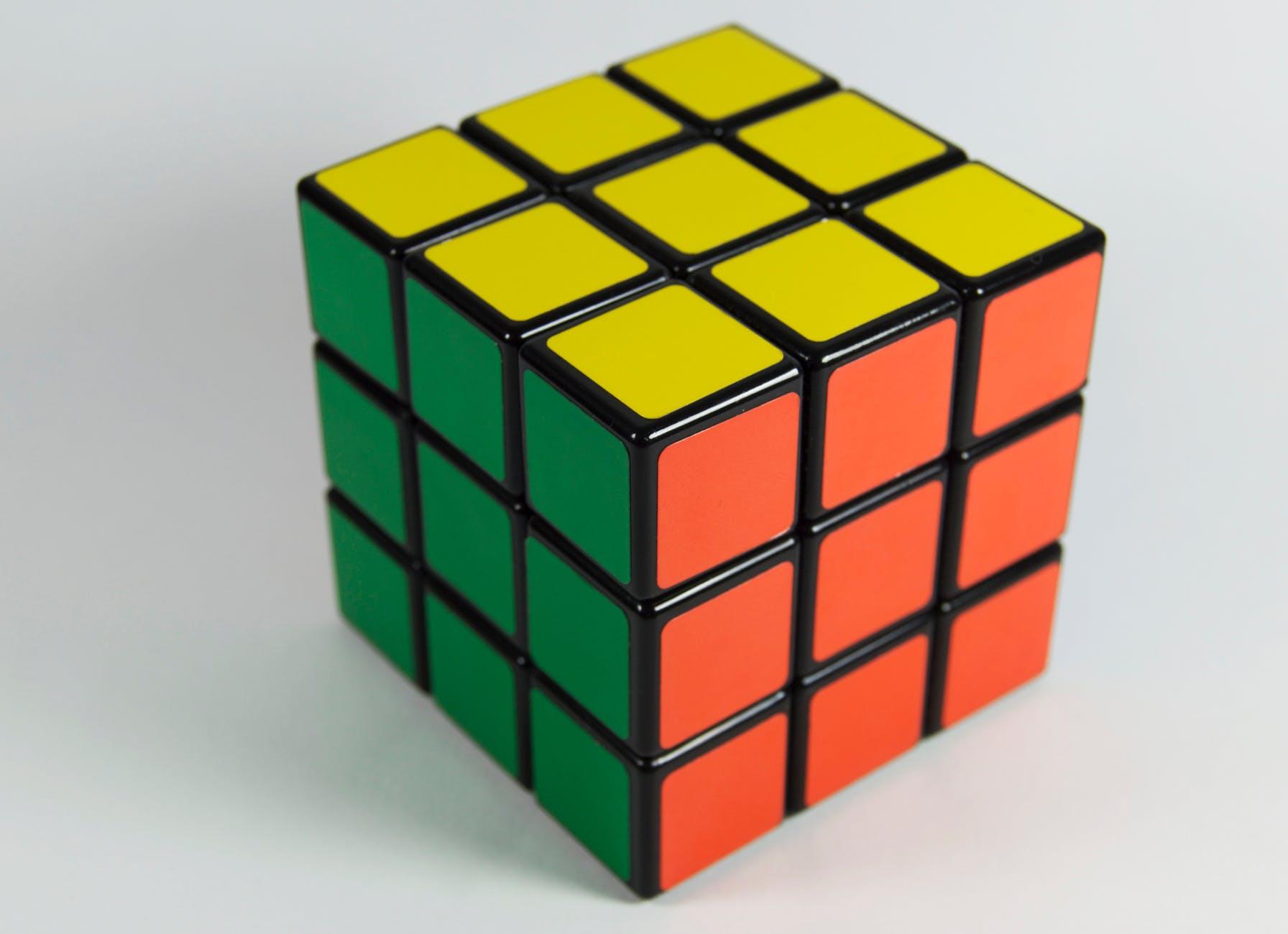 brain color colorful cube