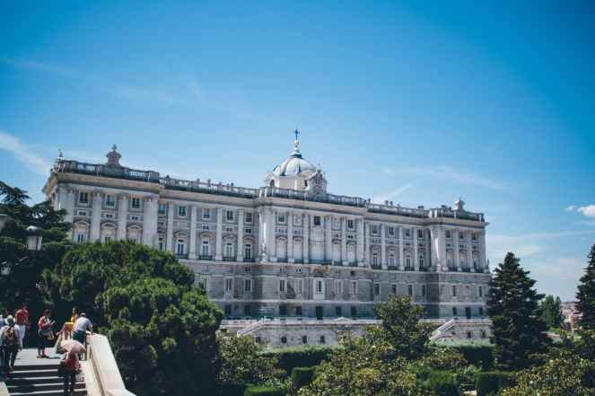 view of royal palace in spain